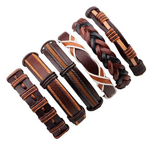 Bogo Arty Multi-style Fashion Leather Bracelet Handmade Braided Wristband Adjustable Unisex Bangles
