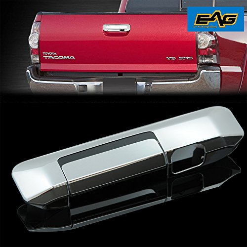 EAG 05-15 Toyota Tacoma Tailgate Handle Cover Triple Chrome Plated ABS with Camera Hole (Chrome Plated Tailgate Handle)