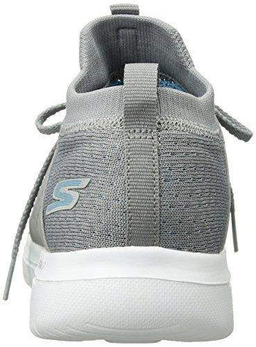 Skechers Performance Women's Go Walk Evolution Ultra-Turbo Sneaker,Gray/Blue,8.5 M US by Skechers (Image #2)