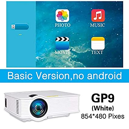 Amazon.com: LCD Projectors - LED GP9 Mini Projector Wired ...
