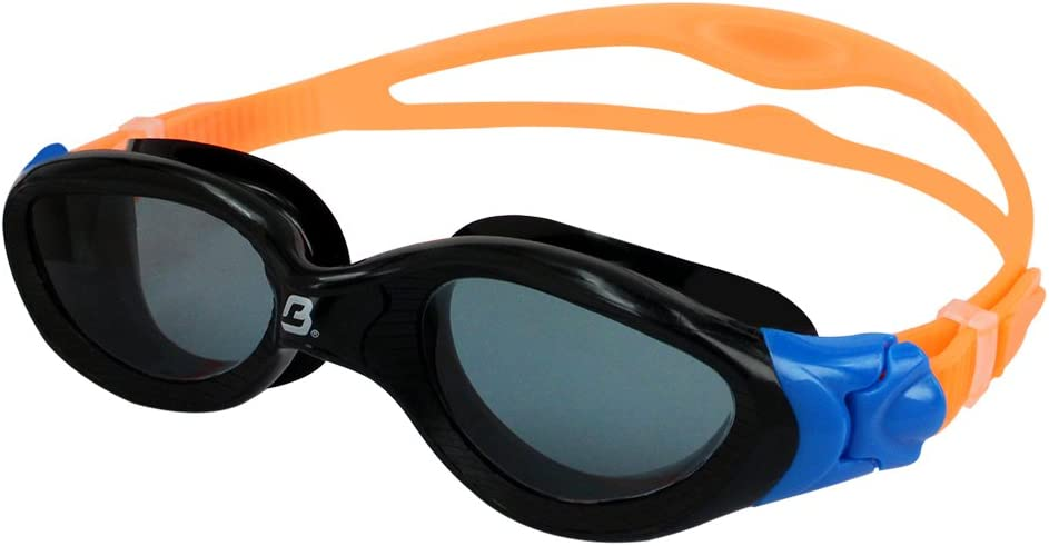 Barracuda Swim Goggle Mirage Easy Adjustment Quick Fit Comfortable No Leaking for Adults Men Women #15420 Curved Lenses Anti-Fog UV Protection One-Piece Frame