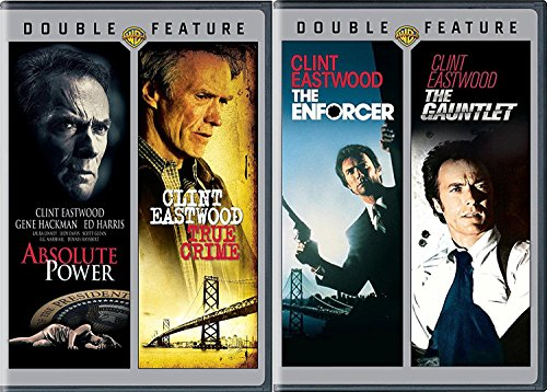 4 Clint Eastwood Dirty Harry Gauntlet & Enforcer + Absolute Power & True Crime Movie Collection Film pack
