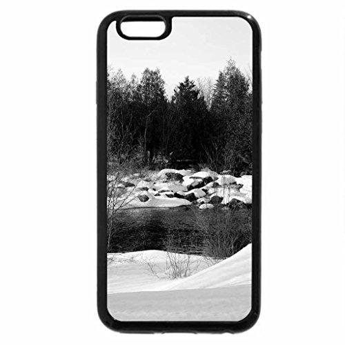iPhone 6S Plus Case, iPhone 6 Plus Case (Black & White) - Winter At Crooked Slide