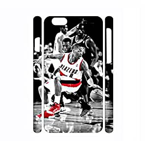 Colorful Frame Glossy Funny Cool Basketball Athlete Action Pattern Snap on Hard Background for Iphone 6 Plus Case - 5.5 Inch