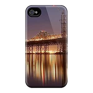 For Iphone Cases, High Quality Bridge At Night Landscape For Iphone 6 Covers Cases