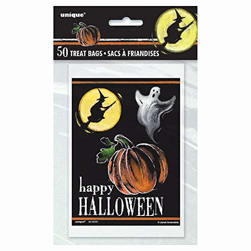 Ghostly Halloween Treat Bags, 50ct (Halloween Broomstick Treat Bags)