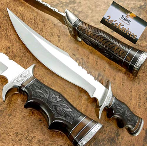 - 2a's Knives Custom Handmade D2 Steel Bowie Knife .- Sword/Chef Kitchen Knife/Dagger/Full Tang/Skinner/Axe/Billet/Cleaver/Bar/Folding Knife/Kukri/Knife Accessories/Survival