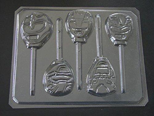 Strong Ranger Face Chocolate Candy Lollipop Mold Power Dude