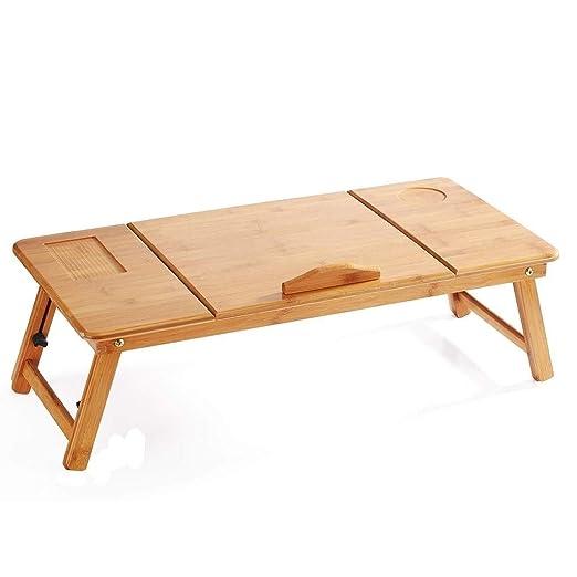 ZOUQILAI Escritorio para computadora portátil, mesa de bambú para ...