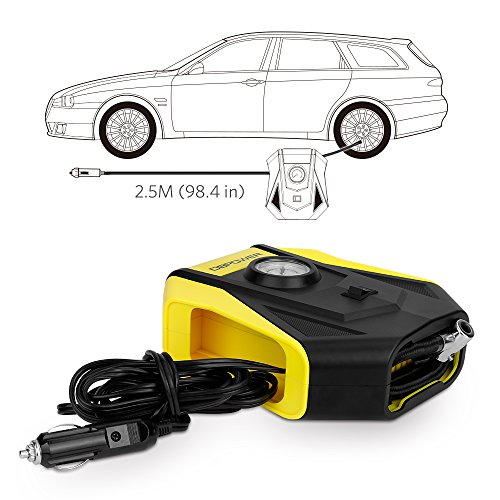 DBPOWER 12V DC Portable Compact Tire Inflator, Auto Electric Air Compressor for Cars, Bikes, Motorcycles and Sport Balls