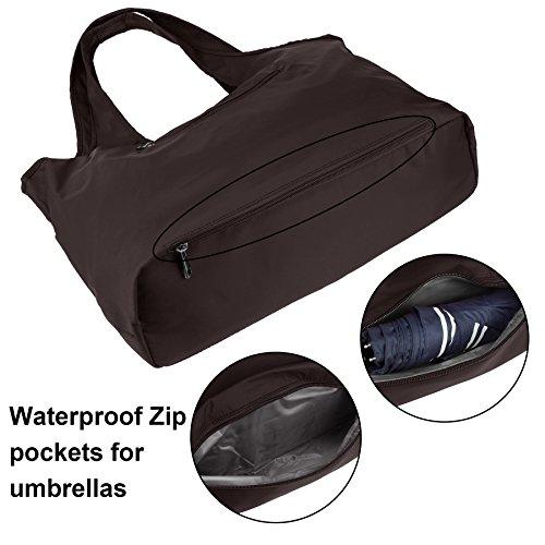 Brown Handbag Fashion Shoulder Travel Large Bag Nylon Shoulder Waterproof Women Multi function Tote Tote ZORESS wApq466
