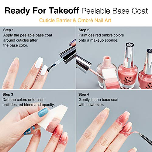 Best Nail Base Coat For Peeling Nails: UNT Ready For Takeoff Peelable Base Coat, Peel Off Base
