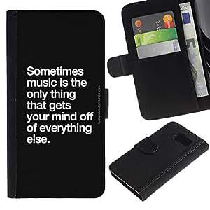 All Phone Most Case / Oferta Especial Cáscara Funda de cuero Monedero Cubierta de proteccion Caso / Wallet Case for Samsung Galaxy S6 // cita de la danza canción de la música blanco negro