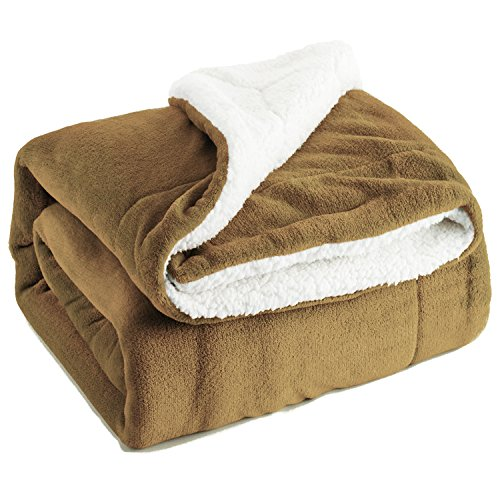 Throw 50x60 Fleece (Bedsure Sherpa Throw Blanket Camel Throw size 50x60 Bedding Fleece Reversible Blanket for Bed and Couch)