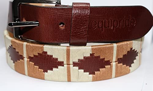 Ivory Equipride Argentinian Polo Belt 100/% Top Quality Leather Pink