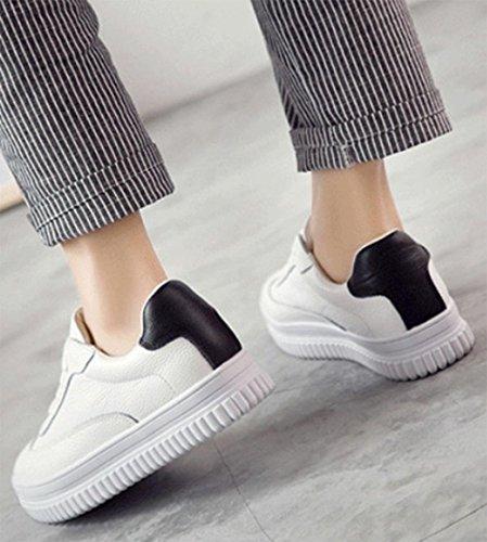 Freizeitschuhe erhöhten schwere Boden Frauen sondern Schuhe Herbst Frau Aufzug Schuhe white (black tail)