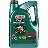 Castrol 03060 GTX MAGNATEC 0W-20 Full Synthetic Motor Oil, 5 Quart