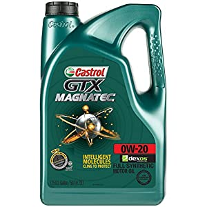 Castrol 03060 GTX MAGNATEC 0W-20 Full Synthetic Motor Oil, 5 Quart