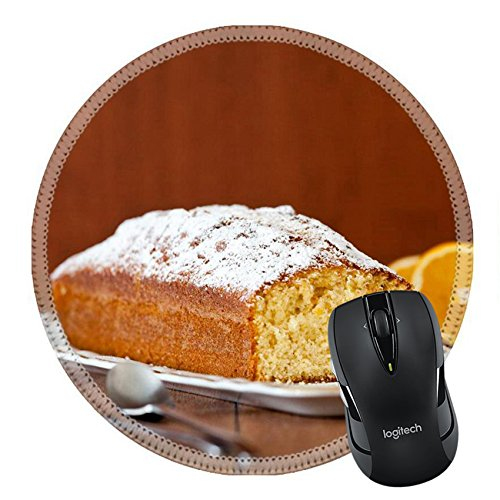 MSD Natural Rubber Mousepad Round Mouse Pad 24835579 Close up photograph of an orange flavoured cake