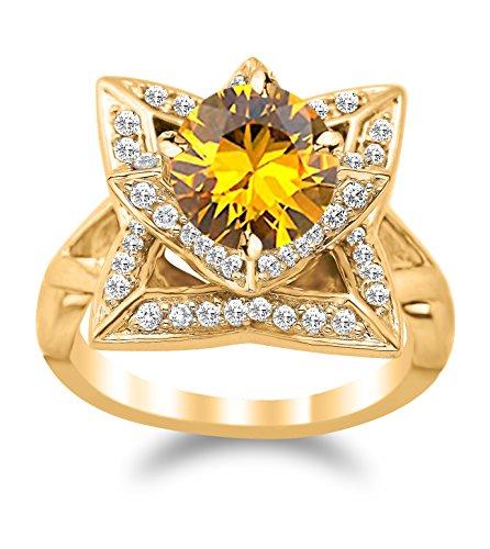 2 Ct Diamond Flower - 4