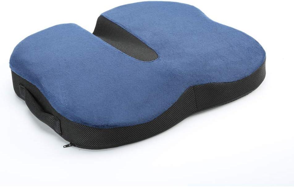 Happy Earth Cushion Cojín ortopédico ergonómico para la espalda hecho de espuma viscoelástica para reducir el automóvil, la oficina, la silla de ruedas, los viajes, el dolor sedentario escolar, l