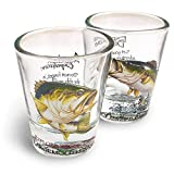 American Expedition Set of 2 Shot Glasses (Largemouth Bass)