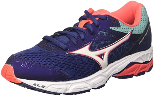 2 Patriotblue White Zapatillas Mizuno Equate para mujer de Wave multicolor running Turquoise 02 WOS 4xTqXRw