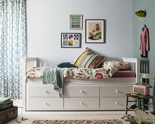 Day Bed Loki Single Bed with Pull out Drawers and Trundle Underbed Noa &...