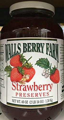 (46oz Walls Berry Farm Strawberry Preserves, One Bottle)