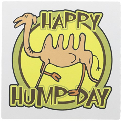 3dRose LLC 8 x 8 x 0.25 Inches Mouse Pad, Funny Happy Hump Day Camel Cartoon Design (mp_159497_1)
