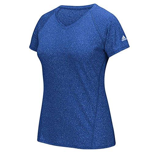 adidas Womens Ultimate Short Sleeve V-Neck Col Ryl Heathrd XqPWvsw