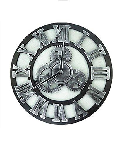 ZHENAI ヨーロッパスタイルのレトロクリエイティブホームバーの装飾の壁時計産業スタイルのギアサイレントウォールクロック ( 色 : B , サイズ さいず : 50 cm 50 cm ) B07BPHJP5N 50 cm 50 cm|B B 50 cm 50 cm