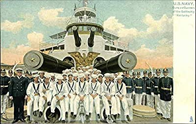Guns and Gunners of the Battleship Kentucky Battleships Original Vintage Postcard