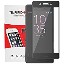 Sony Xperia X Performance screen protector tempered glass, Feitenn 3D Curved Full Screen film 0.2mm HD Clear Gorilla Glass Protector Film For Sony Xperia X Performance (Black)