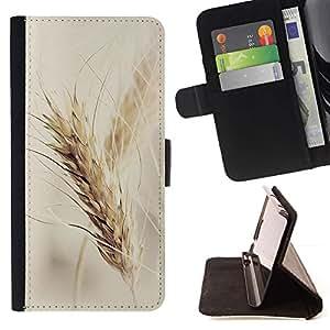 Momo Phone Case / Flip Funda de Cuero Case Cover - Rye Crop campos Vignette Agricultura otoño - Samsung Galaxy S6 Active G890A