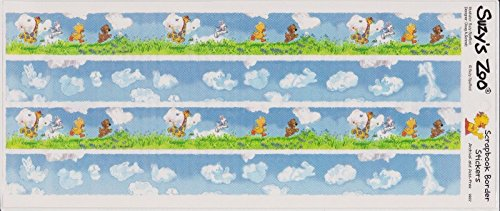 (Little Suzy's Zoo Clouds and Meadow Border Stickers )