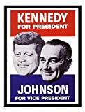 iPosters Kennedy Us Political Campaign Print 1960s Magnetic Memo Board Black Framed - 41 X 31 Cms (approx 16 X 12 Inches)