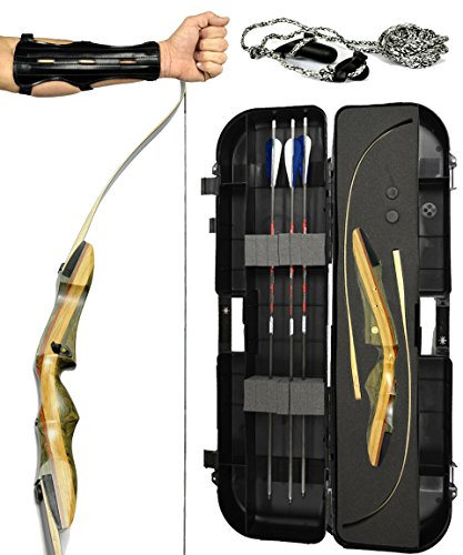 Spyder and Spyder XL Takedown Recurve Bow - Ready 2 Shoot Archery Set | INCLUDES Bow, Premium Carbon Arrows, Recurve Bow Case, Stringer Tool, Armguard, FREE GIFT