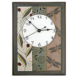 Modern Artisans Nature's Tapestry Ceramic Art Wall Clock, 7.5 x 10.5