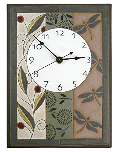 (Modern Artisans Nature's Tapestry Ceramic Art Wall Clock, 7.5