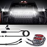 """MICTUNING 2Pcs 60"""" Truck Bed Light LED Light Strip Lamp Waterproof Lighting Kit On-Off Switch Fuse 2-Way Splitter Cable"""