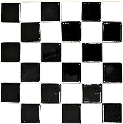 carrelage mosaique en ceramique noir et blanc brillant pour sol mur salle de bain cuisine salle de bain carrelage revetement de baignoire