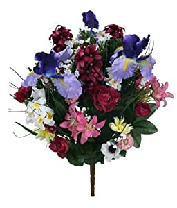 19 mixed spring artificial flower bushes for for Decorate with flowers amazon