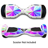Protective Vinyl Hover Board Skins Decals for Two Wheels Scooter- Electric Scooters Stickers for Smart Bluetooth Self Balancing Scooter - Rainbow
