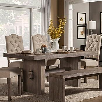 gray weathered wood dining table distressed round uk grey oak finish
