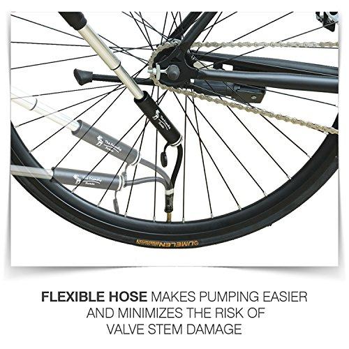 The Friendly Swede Mini Bomba de Aire para Bicicleta en Aleación de Aluminio - GARANTÍA DE POR VIDA (Negro): Amazon.es: Deportes y aire libre