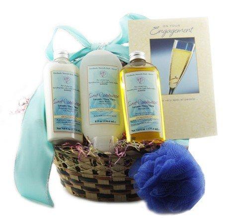 Castle Baths - Engagement Gift Basket - Lavender Ylang Ylang (Gift Baskers)