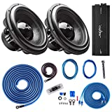 Skar Audio (2) EVL-15 D4 5, 000 Watt Max Power 15' Subwoofers with RP-2000.1D Monoblock Sub Amplifier + 1/0 Gauge Amp Kit