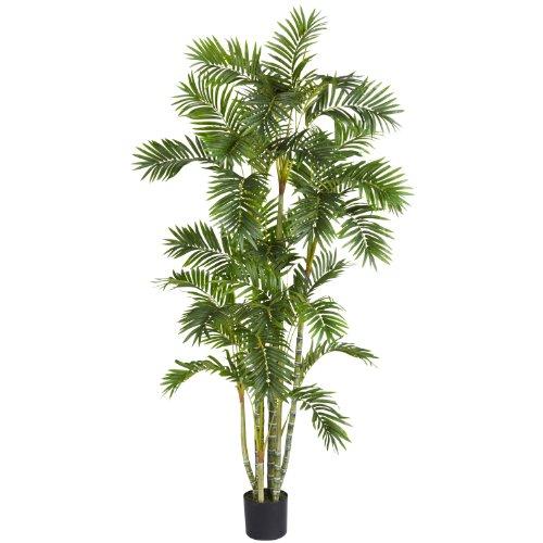 Areca Palm Silk Tree, 6-Feet, Green (Artificial Areca Palm Tree)