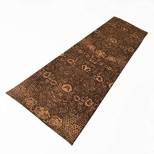 (One(1) Piece Pool Cue Brownish Lizard Print Embossed Cowhide Leather Wrap )